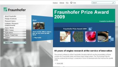 fraunhofer homepage