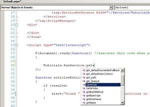 javascript Intellisense