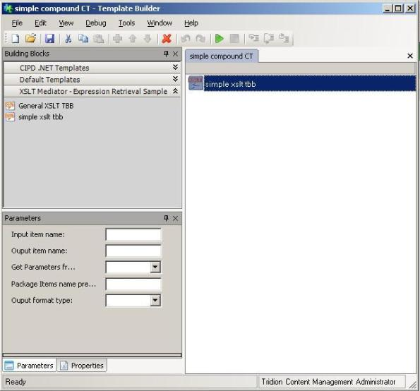 Template Builder Compound CT with XSLT TBB