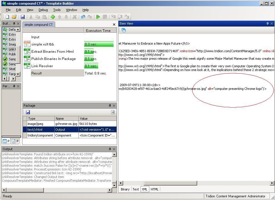 XSLT CT - component links