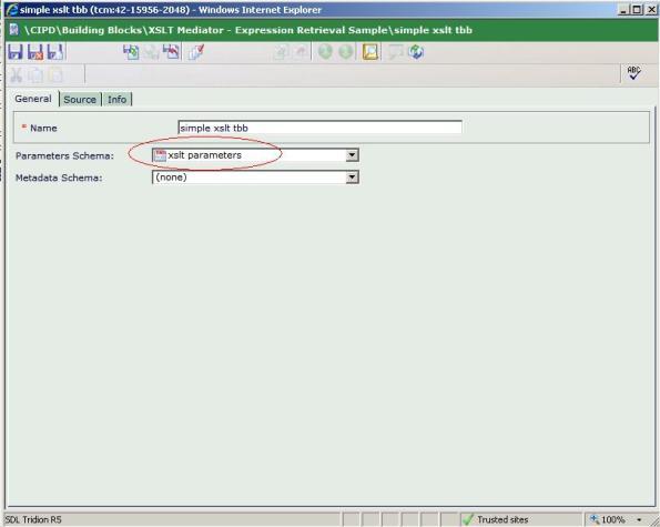 XSLT TBB with parameter schema