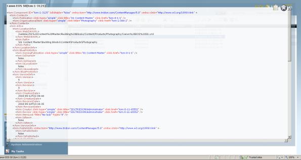 Xml item display - component XML