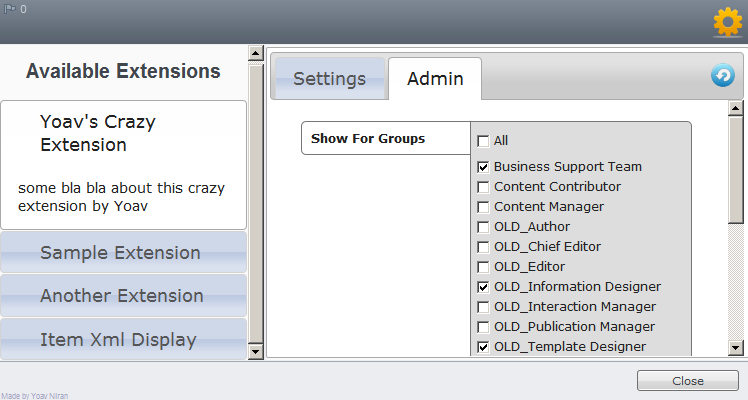Extensions Manager - Admin Fields