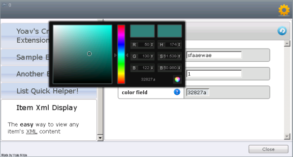 Extensions Manager - Color Picker