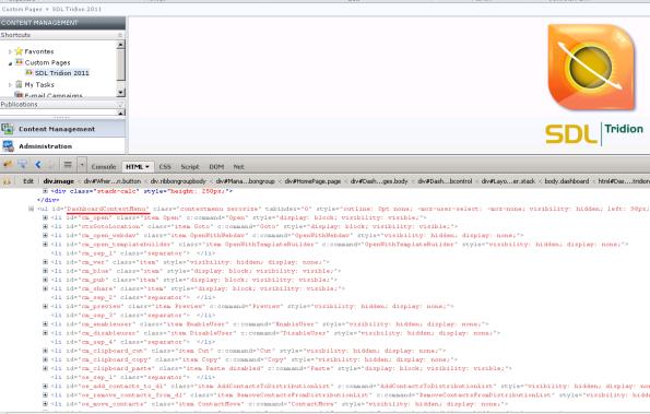 Firebug - context menu ids