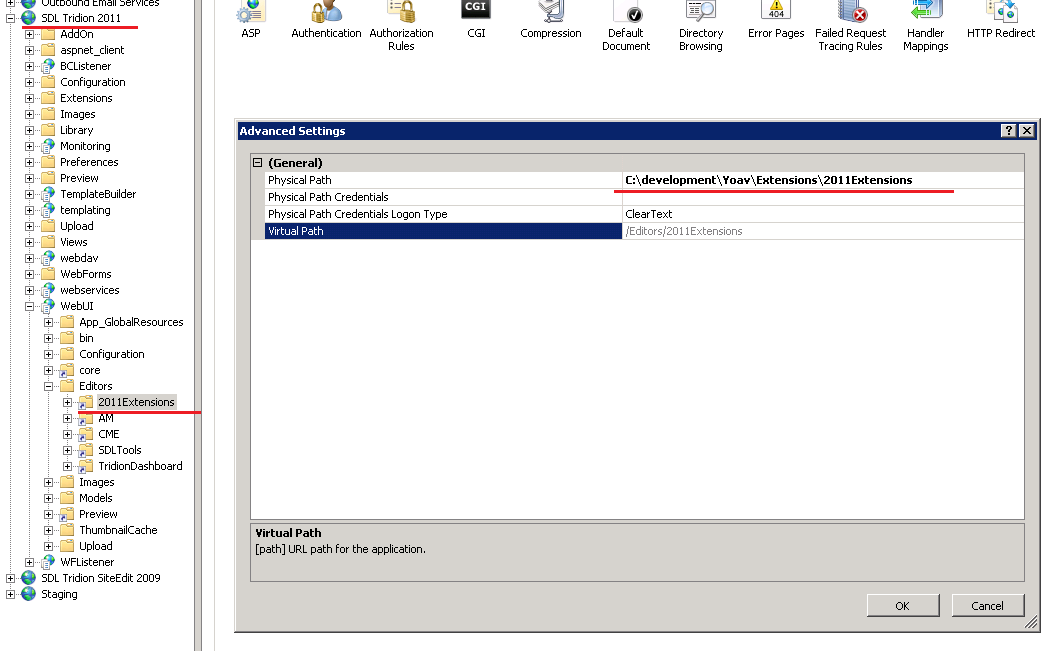 IIS - extension virtual directory