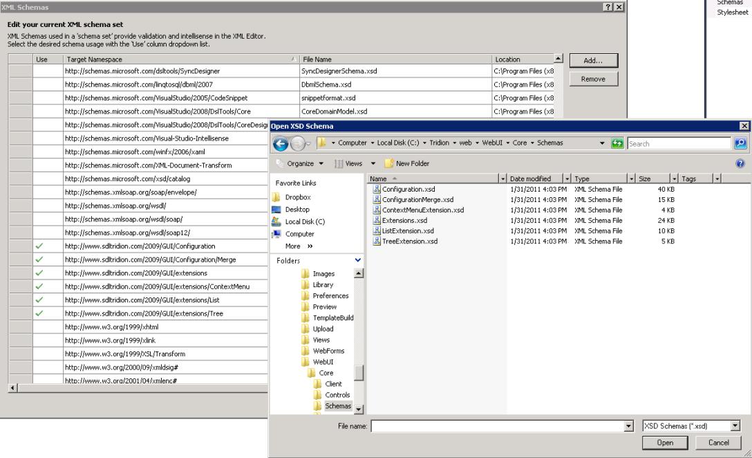 VS XML Schemas